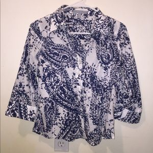 Fitted 6p 6 Foxcroft button up blouse